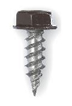 "#7 x 1/2"" Painted Gutter Zip Screws 410 Stainless Steel - Bags of 250"