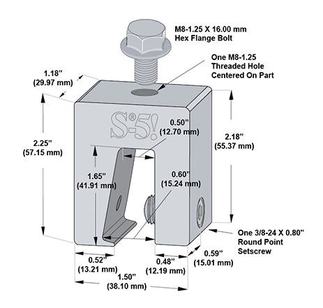S-5-N 1.5 Mini a Rooftop Seam Clamp