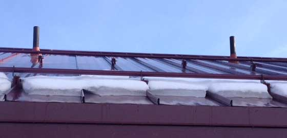 Clamp On Snow Rail Standing Seam Roof Free Shipping Full